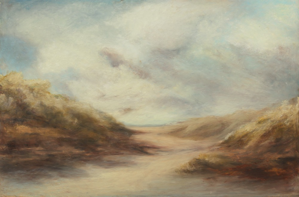 "Swept by the Wind, 24"" x 36"", oil pastel on panel, 2012"